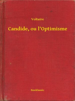 cover image of Candide, ou l'Optimisme