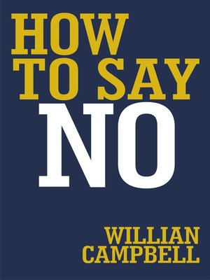 cover image of How to Say No