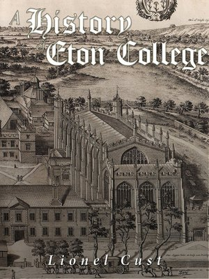 cover image of A History of Eton College