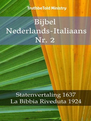 cover image of Bijbel Nederlands-Italiaans Nr. 2