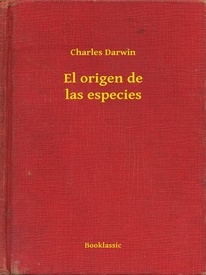 cover image of El origen de las especies