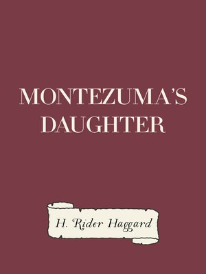 cover image of Montezuma's Daughter