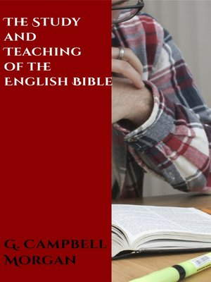 cover image of The Study and Teaching of the English Bible
