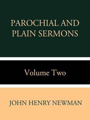 cover image of Parochial and Plain Sermons Volume Two
