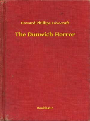 cover image of The Dunwich Horror