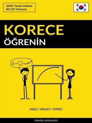 cover image of Korece Öğrenin--Hızlı / Kolay / Etkili