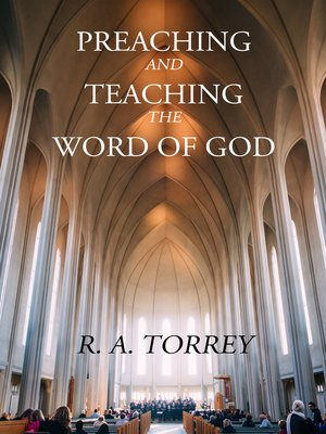 cover image of Preaching and Teaching the Word of God