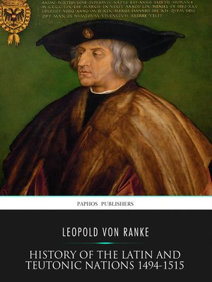 cover image of History of the Latin and Teutonic Nations 1494-1515