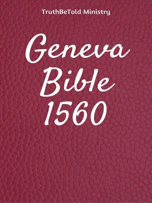 cover image of Geneva Bible 1560