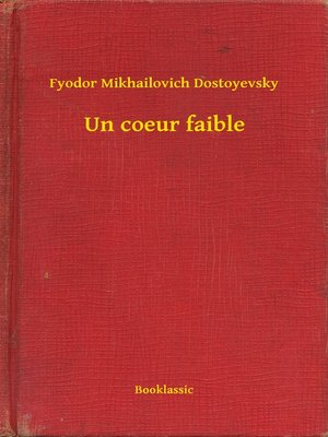 cover image of Un coeur faible