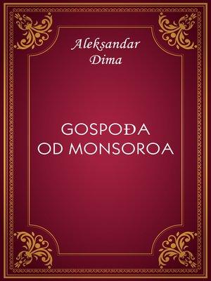 cover image of Gospođa od Monsoroa