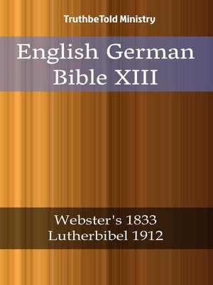 cover image of English German Bible XIII
