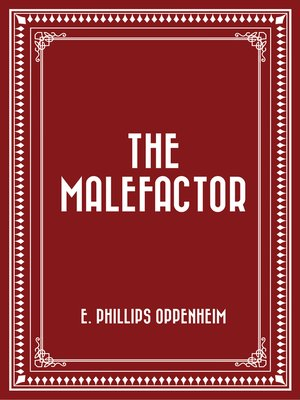 cover image of The Malefactor