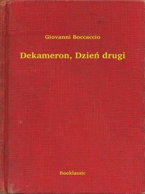 cover image of Dekameron, Dzień drugi