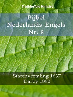 cover image of Bijbel Nederlands-Engels Nr. 8