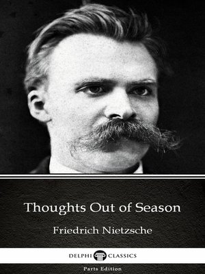 cover image of Thoughts Out of Season by Friedrich Nietzsche