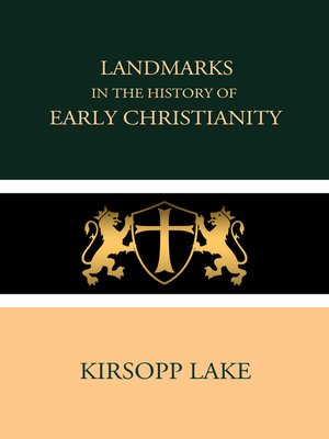 cover image of Landmarks in the History of Early Christianity
