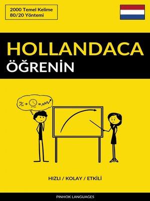 cover image of Hollandaca Öğrenin--Hızlı / Kolay / Etkili