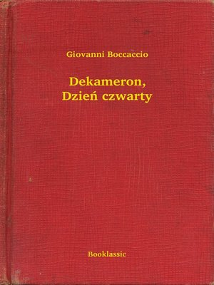 cover image of Dekameron, Dzień czwarty