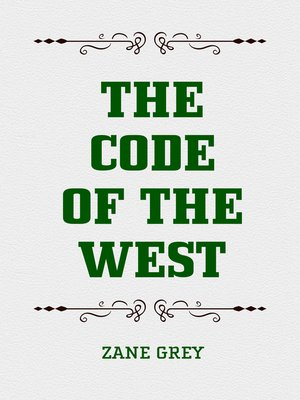 cover image of The Code of the West