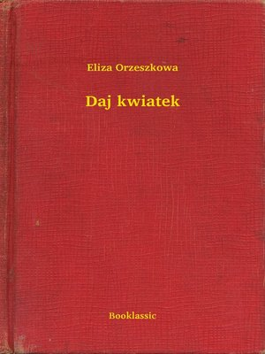 cover image of Daj kwiatek