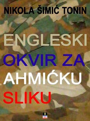 cover image of ENGLESKI OKVIR ZA AHMICKU SLIKU