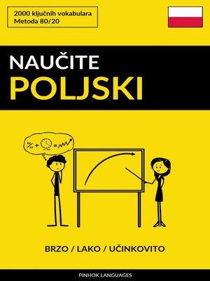 cover image of Naučite Poljski--Brzo / Lako / Učinkovito