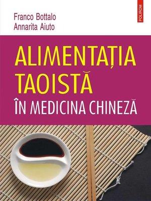cover image of Alimentația taoistă în medicina chineză
