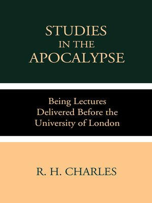 cover image of Studies in the Apocalypse