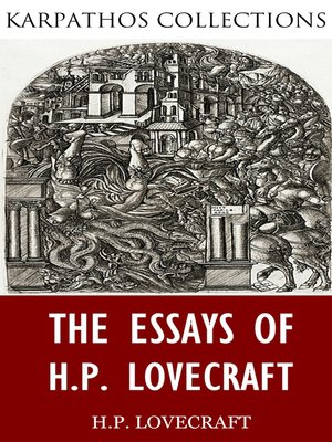 cover image of The Essays of H.P. Lovecraft