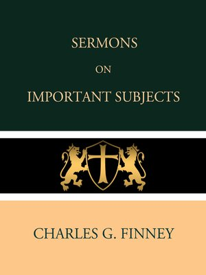 cover image of Sermons on Important Subjects