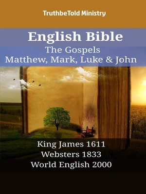 cover image of English Bible - The Gospels - Matthew, Mark, Luke & John