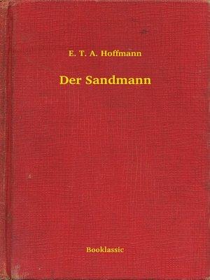 cover image of Der Sandmann