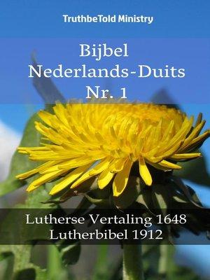 cover image of Bijbel Nederlands-Duits Nr. 1