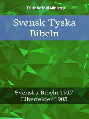 cover image of Svensk Tyska Bibeln