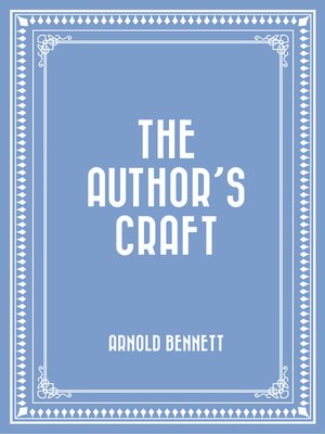 cover image of The Author's Craft