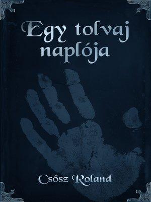 cover image of Egy tolvaj naplója