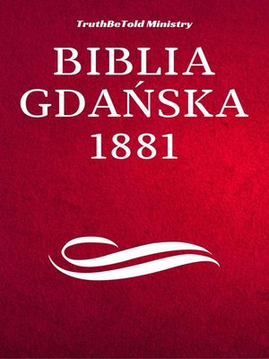cover image of Biblia Gdańska 1881