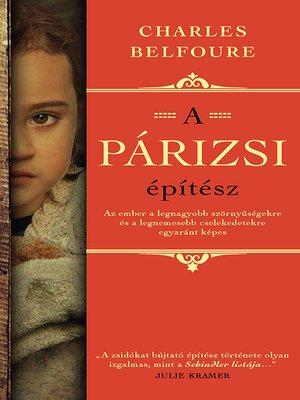 cover image of A párizsi építész