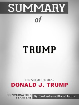 cover image of Summary of Trump: The Art of the Deal