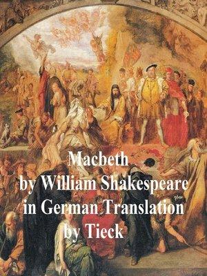 cover image of Macbeth in German (Tieck)