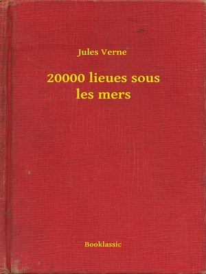 cover image of 20000 lieues sous les mers