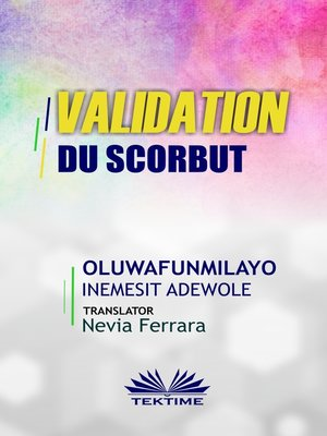 cover image of Validation Du Scorbut