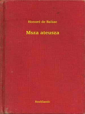 cover image of Msza ateusza