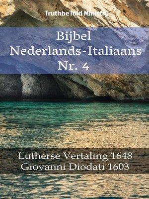 cover image of Bijbel Nederlands-Italiaans Nr. 4