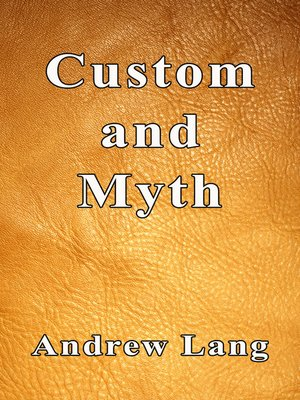 cover image of Custom and Myth