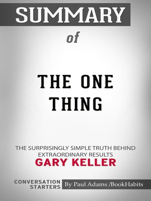 cover image of Summary of the One Thing