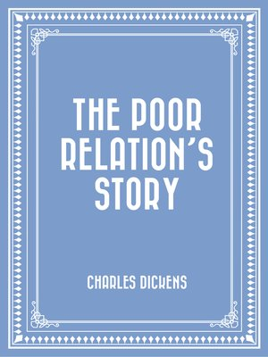 cover image of The Poor Relation's Story