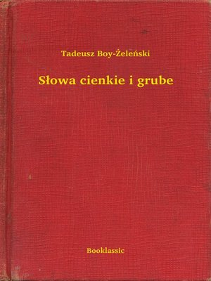 cover image of Słowa cienkie i grube