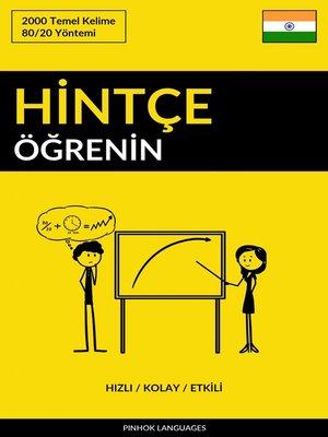 cover image of Hintçe Öğrenin--Hızlı / Kolay / Etkili